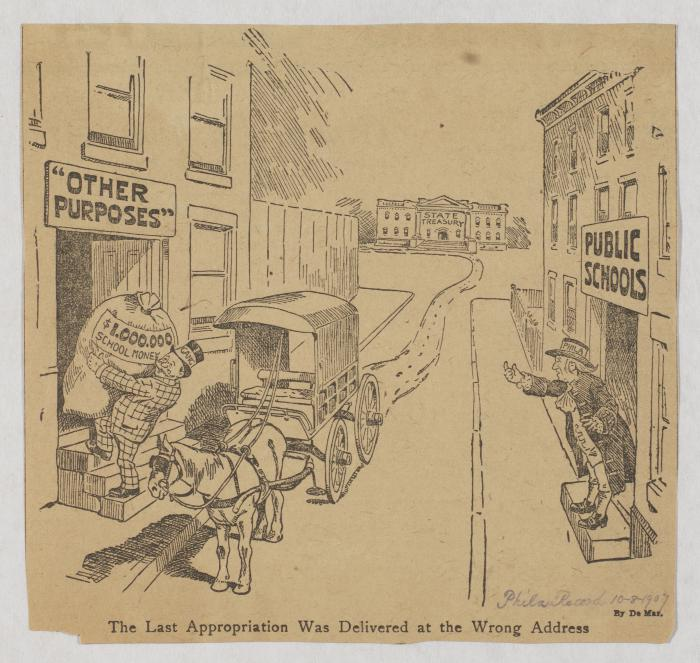 "John L. DeMar, ""The Last Appropriation Was Delivered at the Wrong Address,"" Philadelphia Record, October 8, 1907"