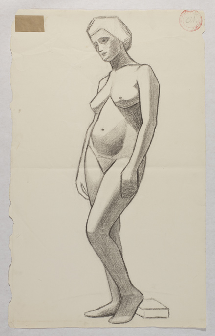 Drawing by Athena Tacha, 1957.