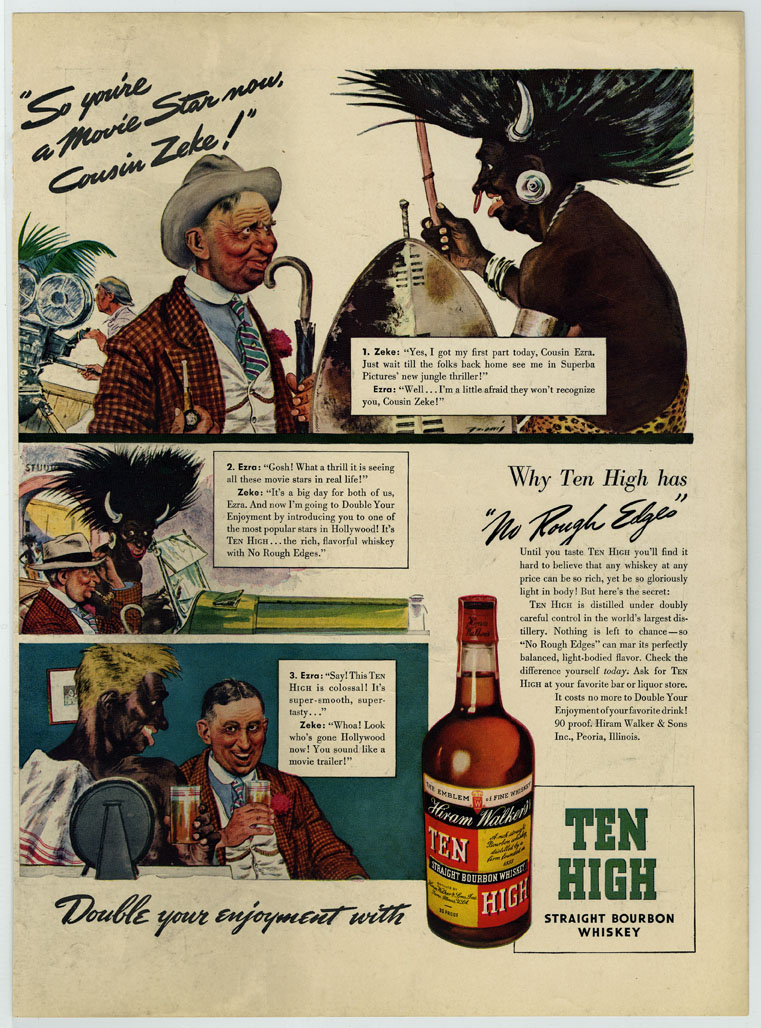 Advertisement for Hiram Walker Ten High Whiskey