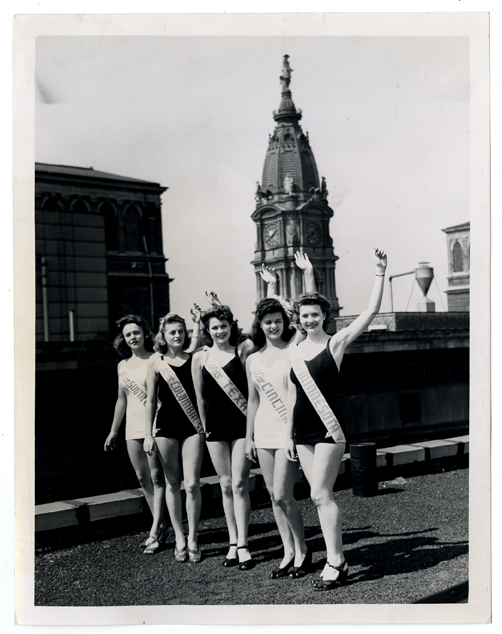 Miss American contestants in Philadelphia, 1942