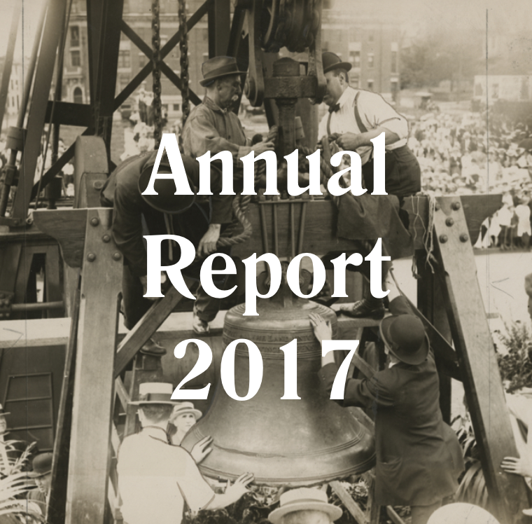 Historical Image of Liberty Bell with Annual Report 2017
