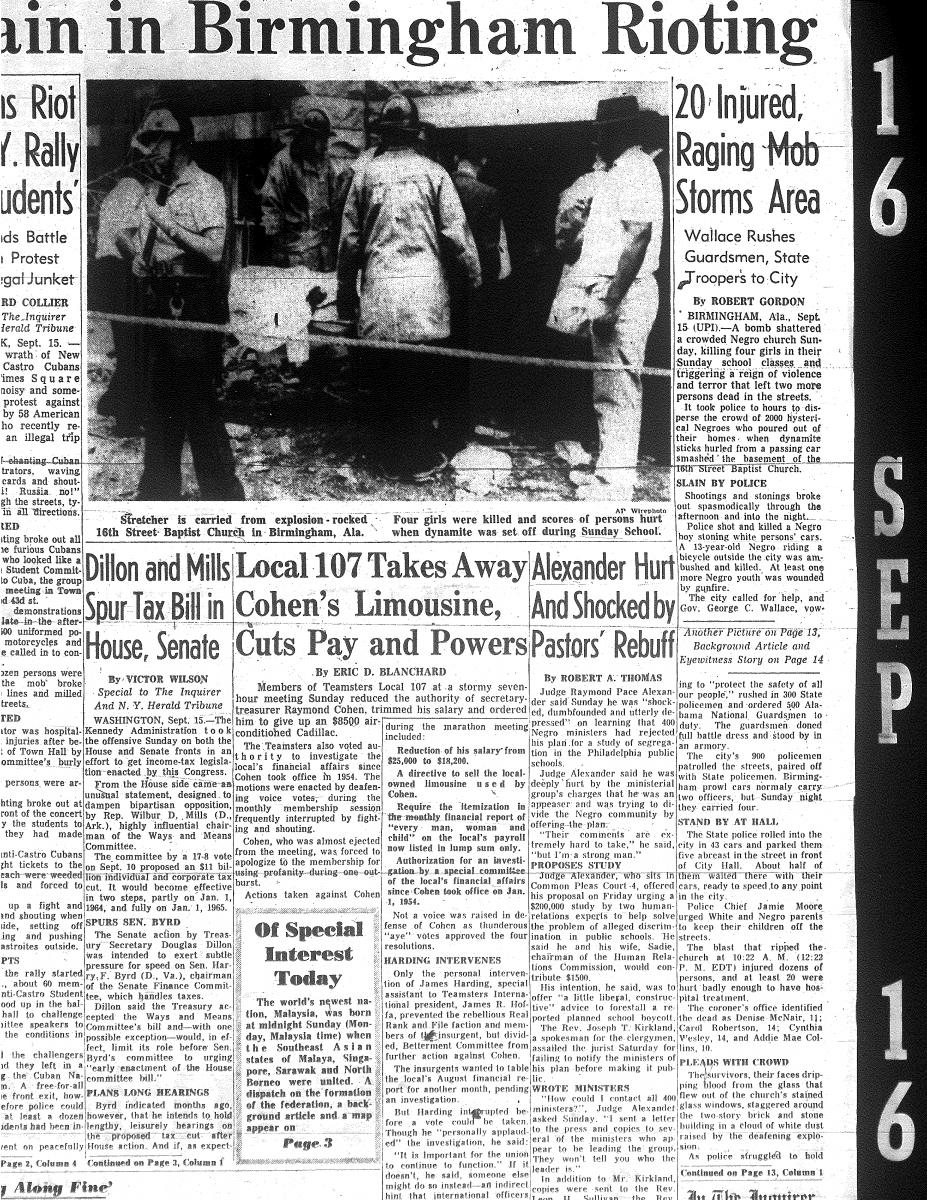research paper on birmingham church bombing Learning the lesson of the birmingham church bombing  the birmingham  news, although the conservative newhouse paper did not go out.