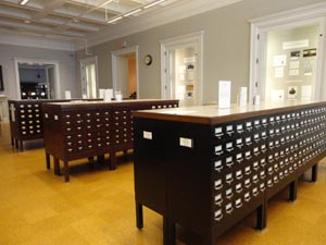Wide view of HSP's card catalogs