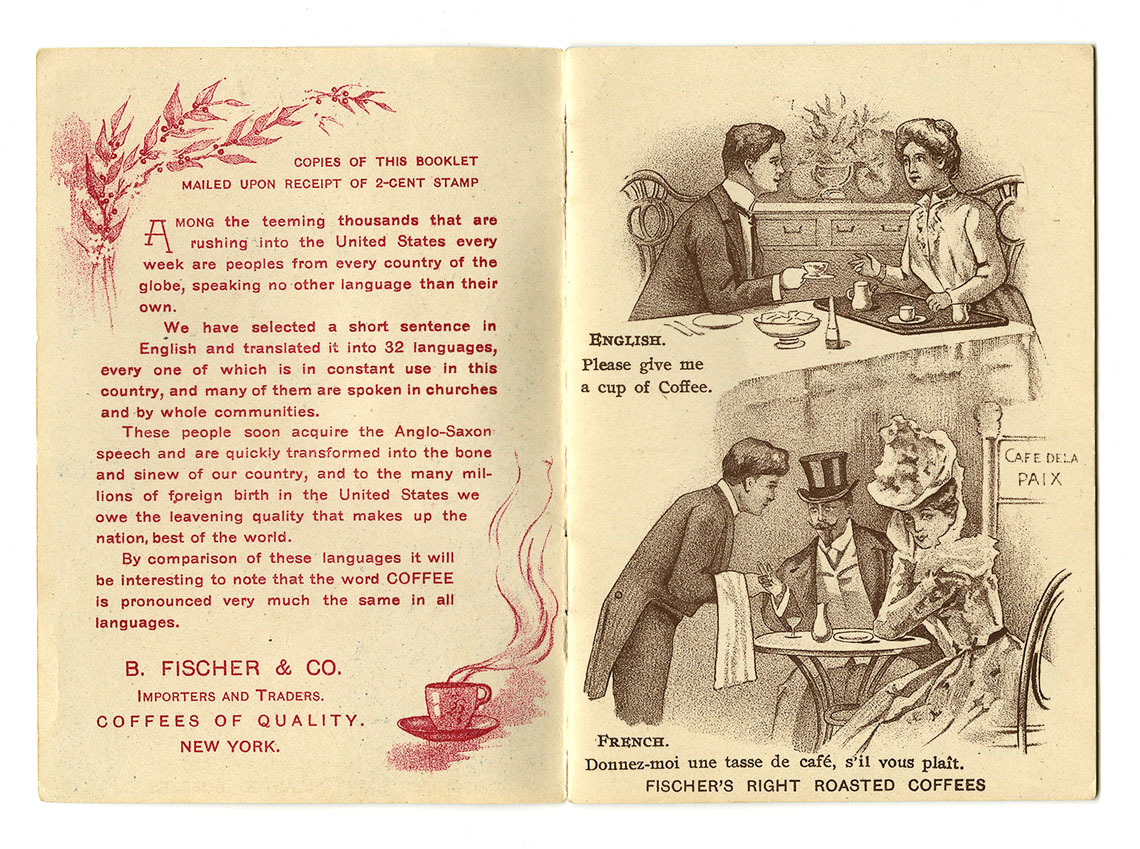 Fischer's Coffees Promotional Booklet