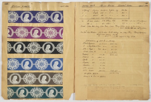 Volume/Folder: Ribbon sample book, 1850-1872 [Volume 4, Part 2] Horstmann-Lippincott family [1899]