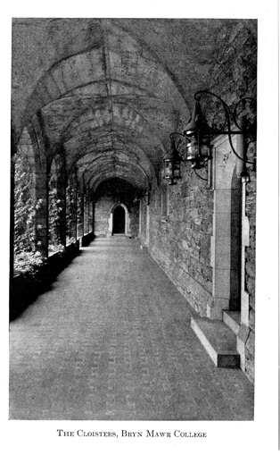 The Cloisters at Bryn Mawr College, circa 1929