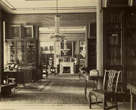 HSP Exhibition, Patterson Mansion Looking West, Society Photo Collection HALF