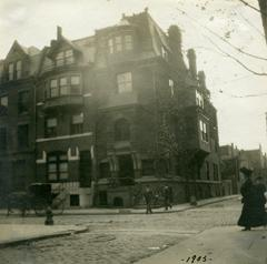 HSP Exhibition, SE Corner of Juniper and Locust Sts, 1905, Perkins Collection FULL