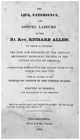Richard Allen, autobiography HALF