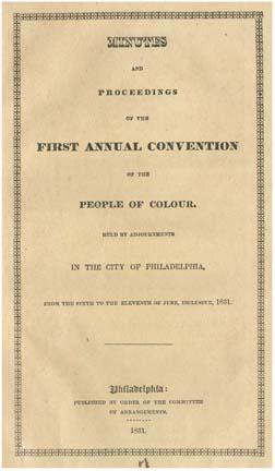 Richard Allen, Negro Convention HALF