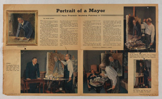 """Portrait of a Mayor: How Franklin Watkins Painted It,"" from The Sunday Bulletin Magazine, July 8, 1962."