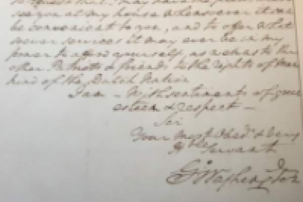 Letter signed by George Washington