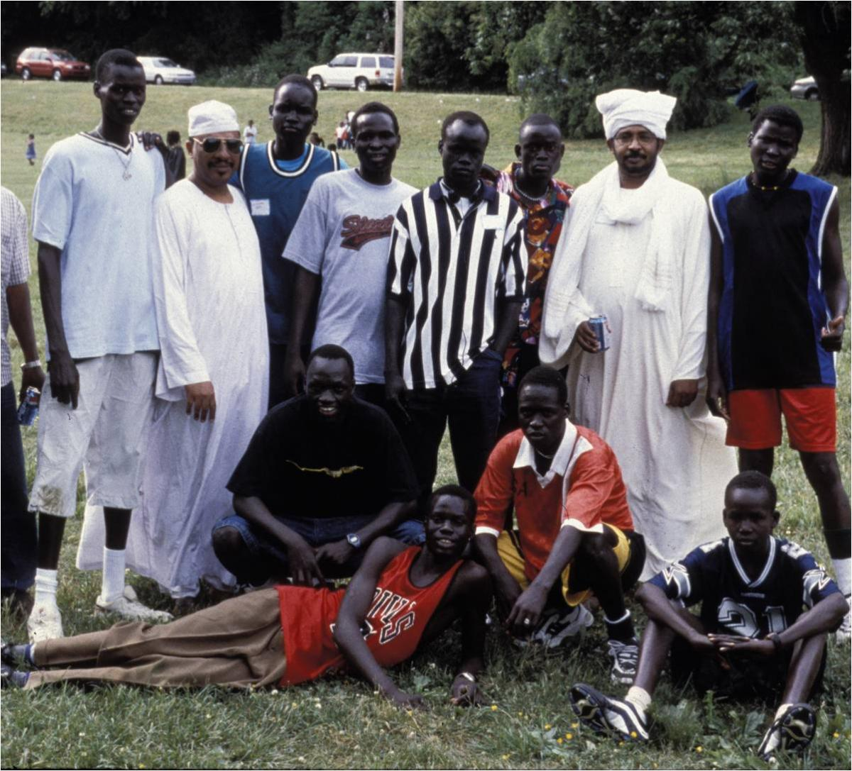 North and South Sudanese at a Sudanese Society picnic, Fairmount Park