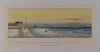 Atlantic City Beach, August 4, 1889